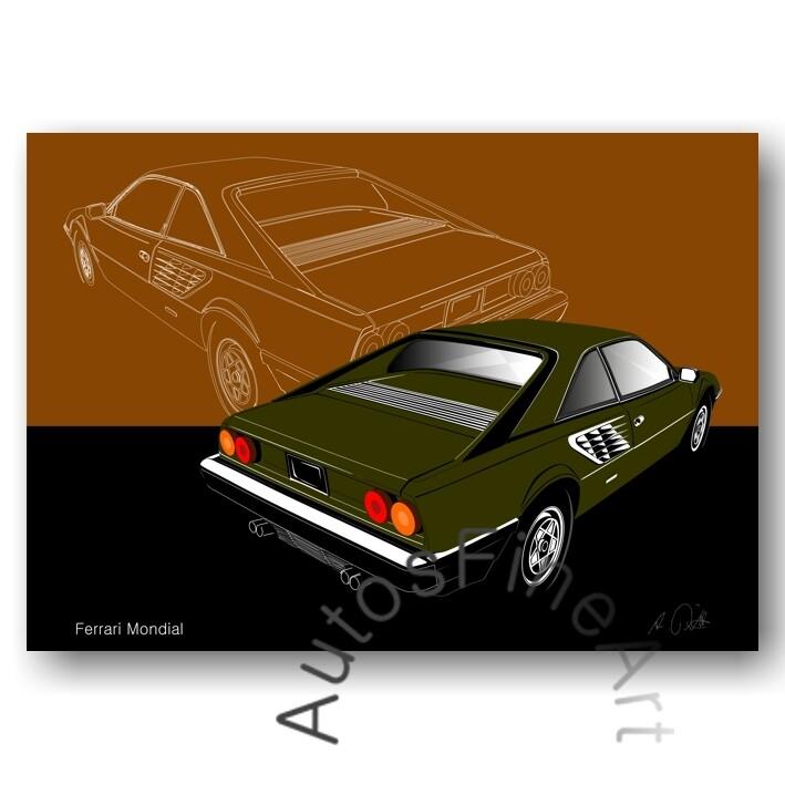 Ferrari Mondial - Poster No. 3sketch