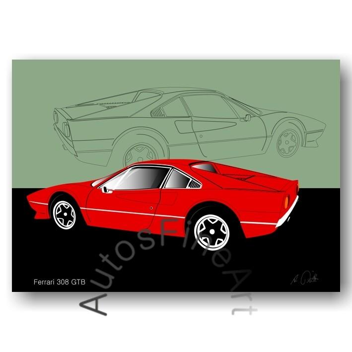 Ferrari 308 GTB - Poster No. 18sketch