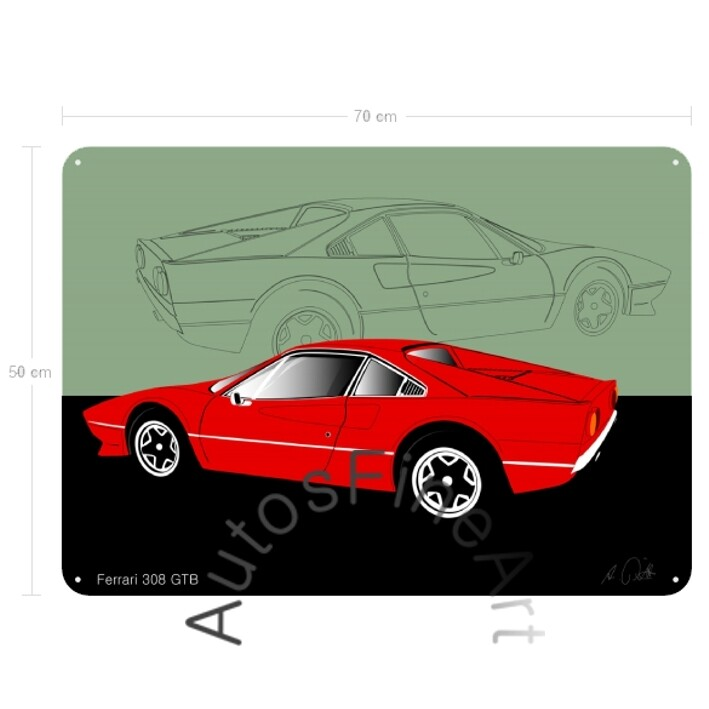 Ferrari 308 GTB - Blechbild No. 18sketch