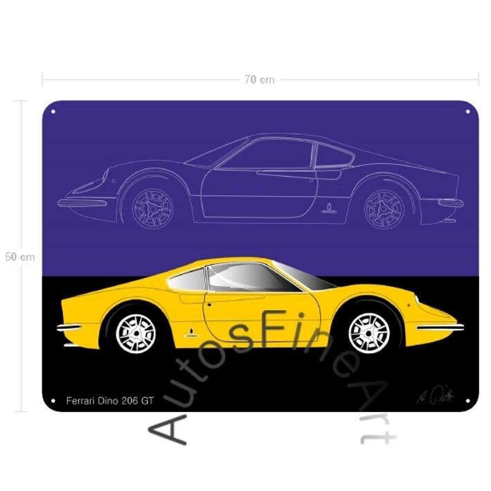 Ferrari Dino 206 GT - Blechbild No. 19sketch