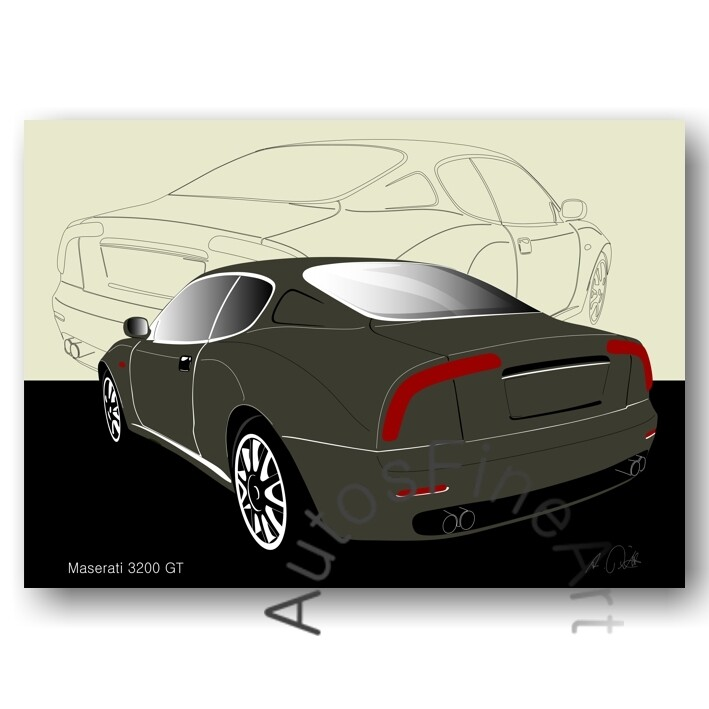 Maserati 3200 GT - Poster No. 20sketch