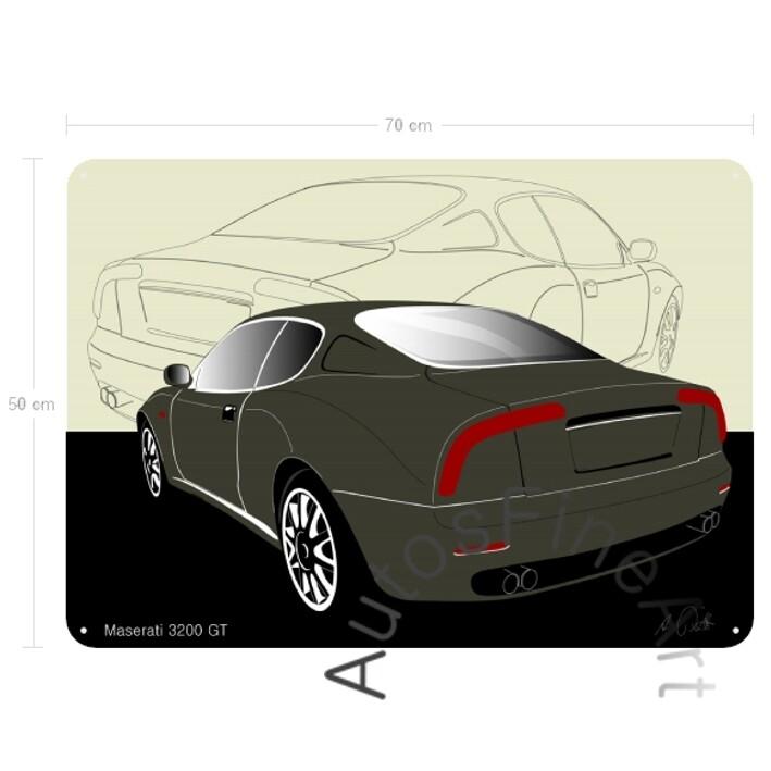 Maserati 3200 GT - Blechbild No. 20sketch