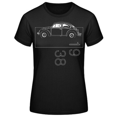 VW Käfer Frauen T-Shirt - No. 123