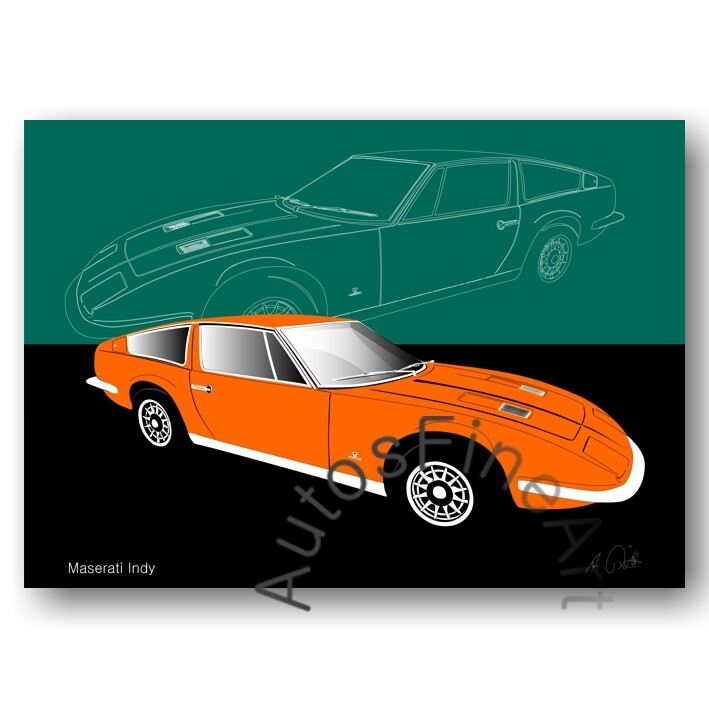 Maserati Indy - Poster No. 21sketch