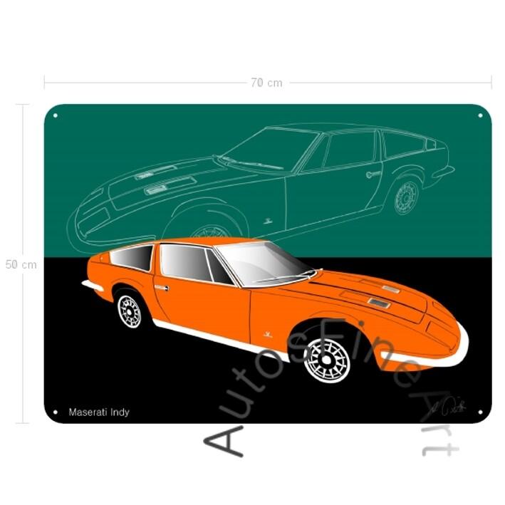Maserati Indy - Blechbild No. 21sketch