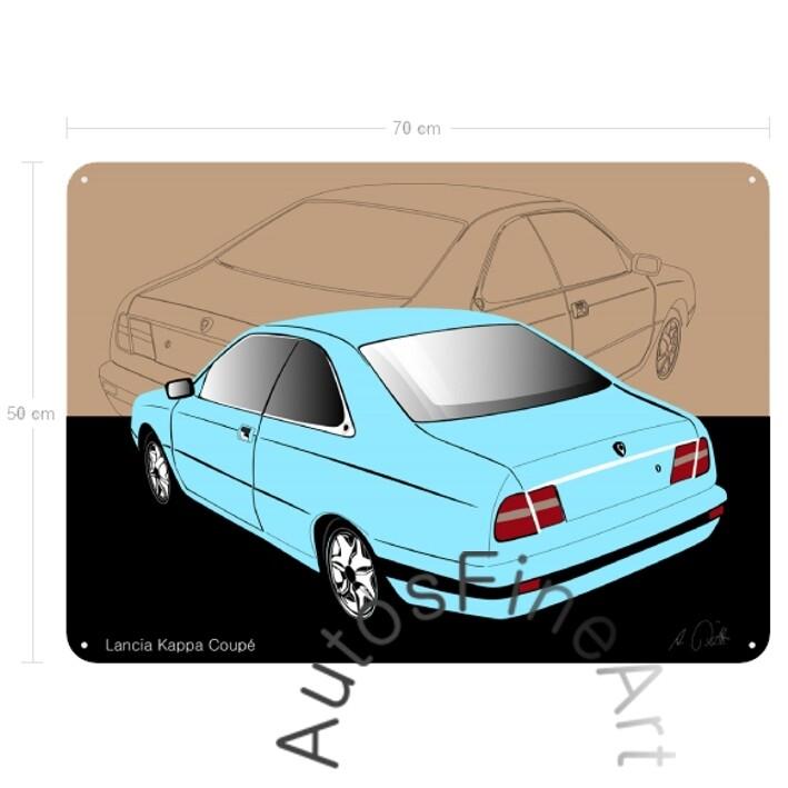 Lancia Kappa Coupé - Blechbild No. 22sketch