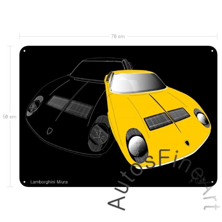 Lamborghini Miura - Blechbild No. 23sketch