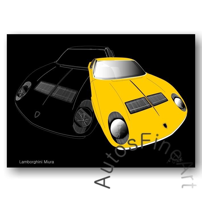 Lamborghini Miura - HD Aluminiumbild No. 23sketch