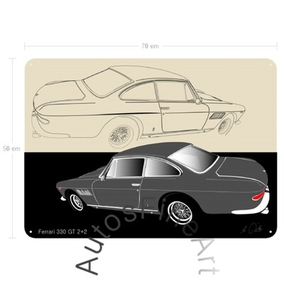 Ferrari 330 GT 2+2 - Blechbild No. 24sketch