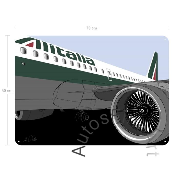 Blechbild AIRLINE No. 1sketch ALITALIA