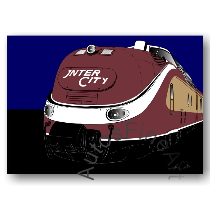 Poster RAILWAYspecial No. 1sketch INTERCITY