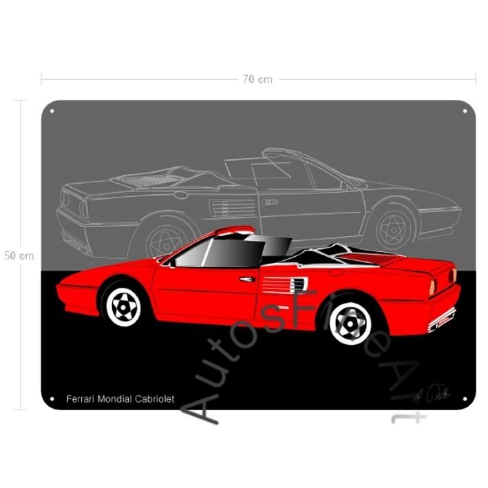 Ferrari Mondial Cabriolet - Blechbild No. 26sketch
