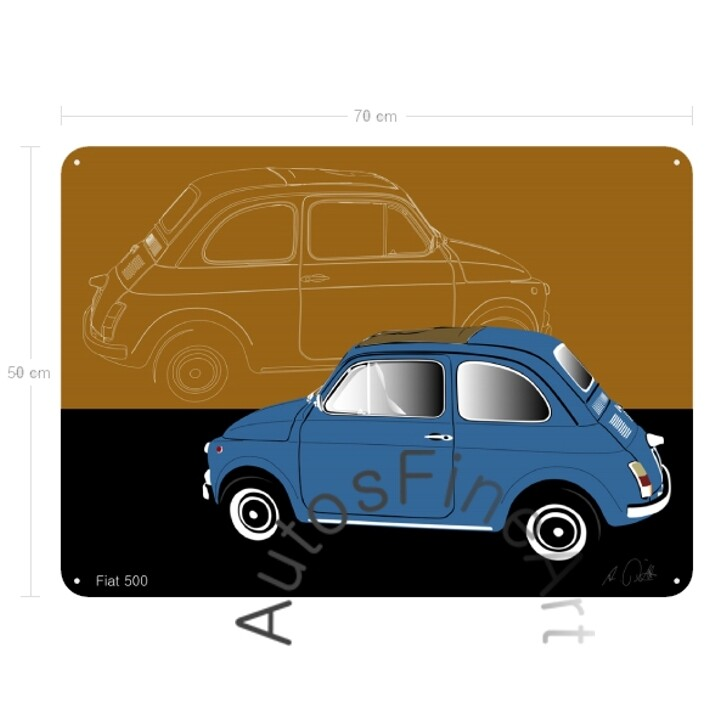 Fiat 500 - Blechbild No. 27sketch