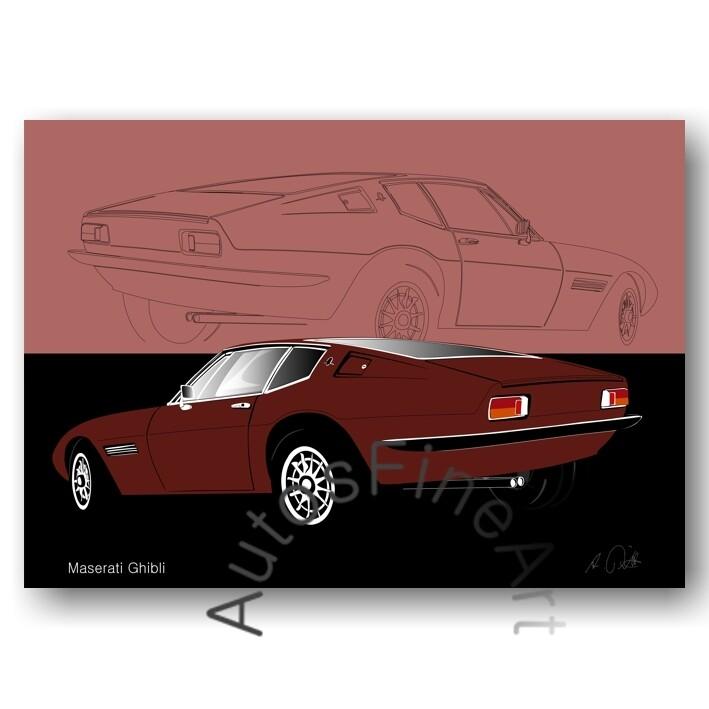 Maserati Ghibli - Poster No. 28sketch