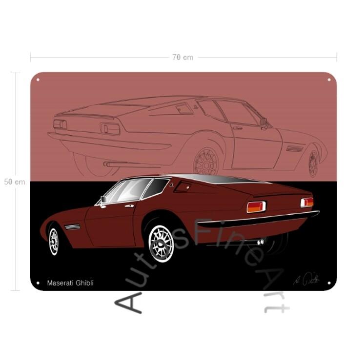 Maserati Ghibli - Blechbild No. 28sketch