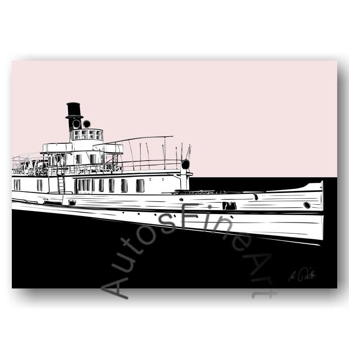 Poster SHIPspecial No. 1sketch AUSFLUGSDAMPFER