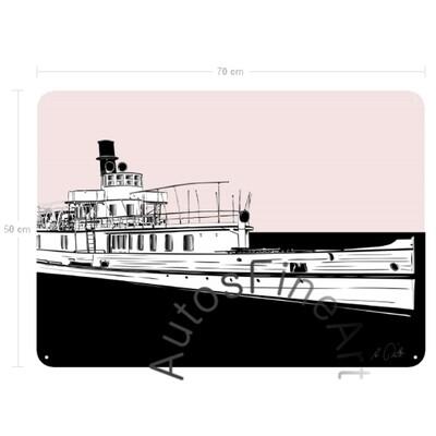 Blechbild SHIPsketch No. 1 AUSFLUGSDAMPFER