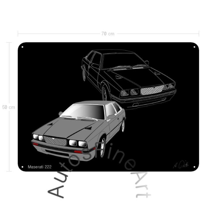 Maserati 222 - Blechbild No. 29sketch