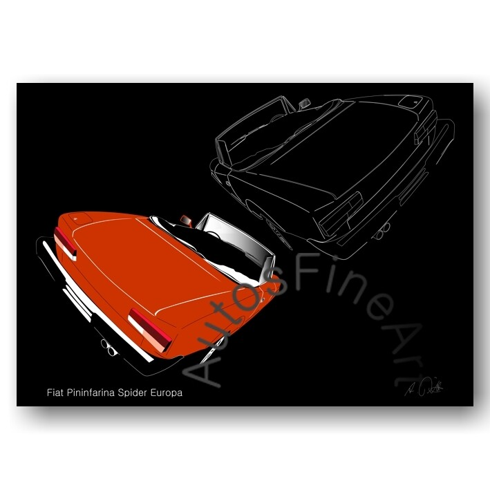 Fiat Pininfarina Spider Europa - HD Aluminiumbild No. 31sketch