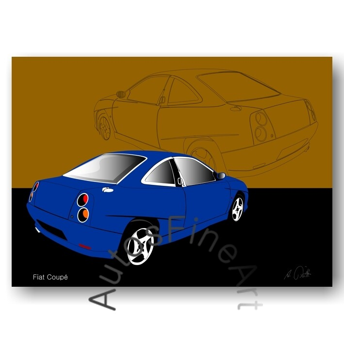Fiat Coupé - HD Aluminiumbild No. 32sketch