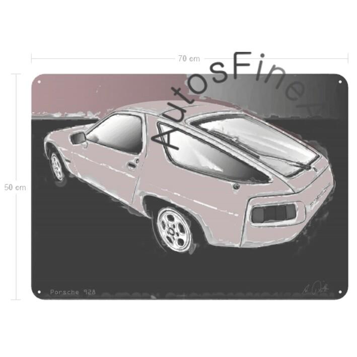 Porsche 928 - Blechbild No. 137classic