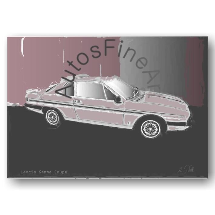 Lancia Gamma Coupé - HD Aluminiumbild No. 36classic