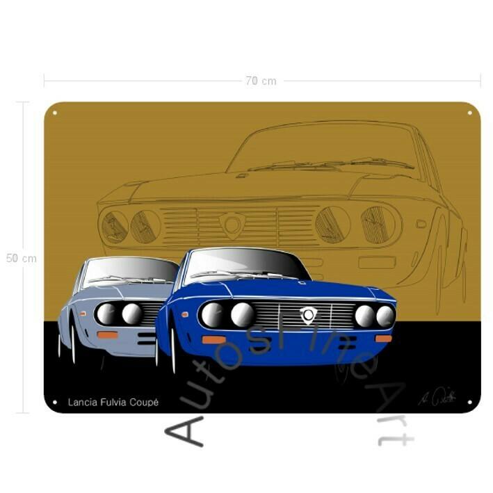Lancia Fulvia Coupé - Blechbild No. 42sketch