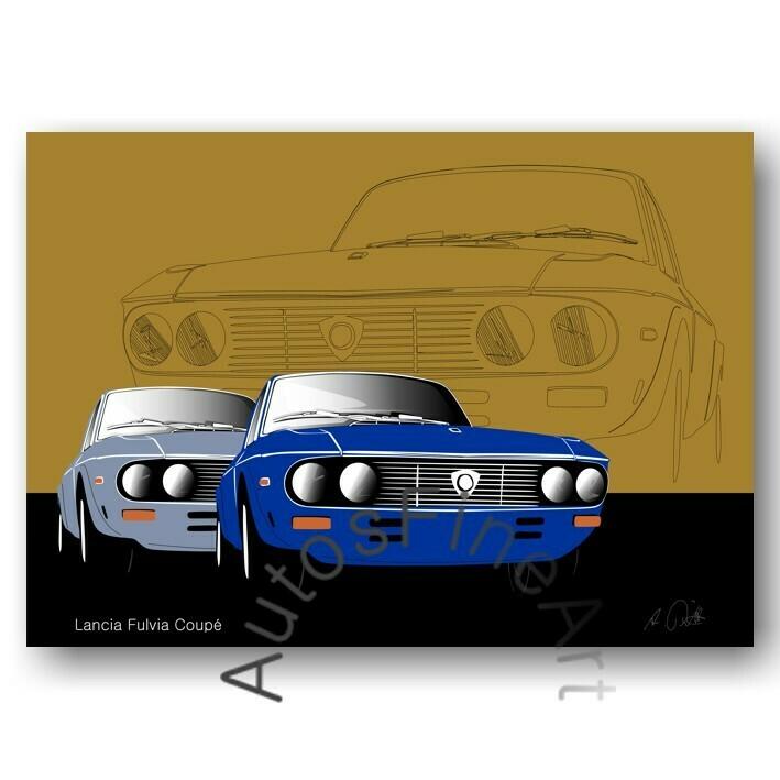 Lancia Fulvia Coupé - Poster No. 42sketch