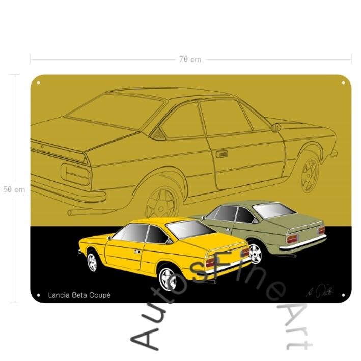 Lancia Beta Coupé - Blechbild No. 45sketch