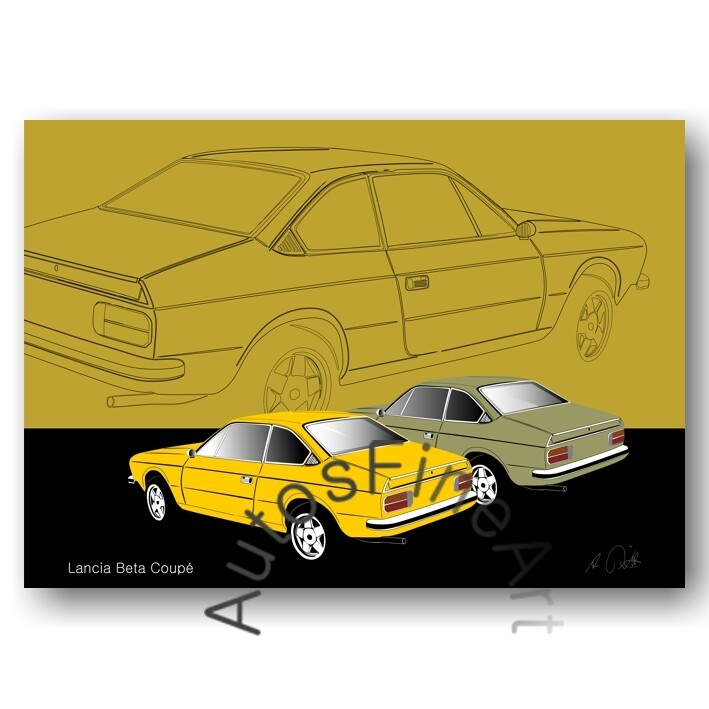 Lancia Beta Coupé -Poster No. 45sketch