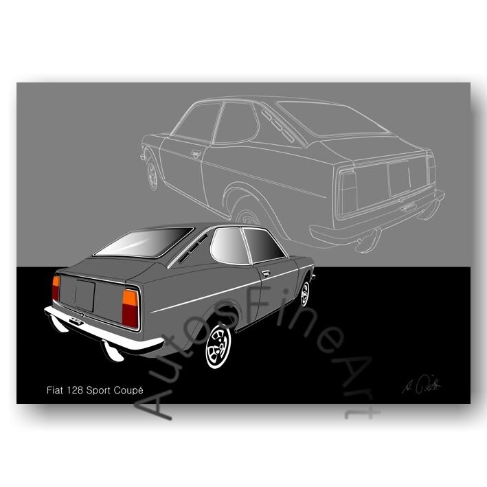 Fiat 128 Sport Coupé - Poster No. 48sketch