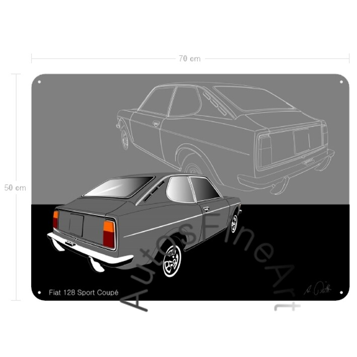 Fiat 128 Sport Coupé - Blechbild No. 48sketch