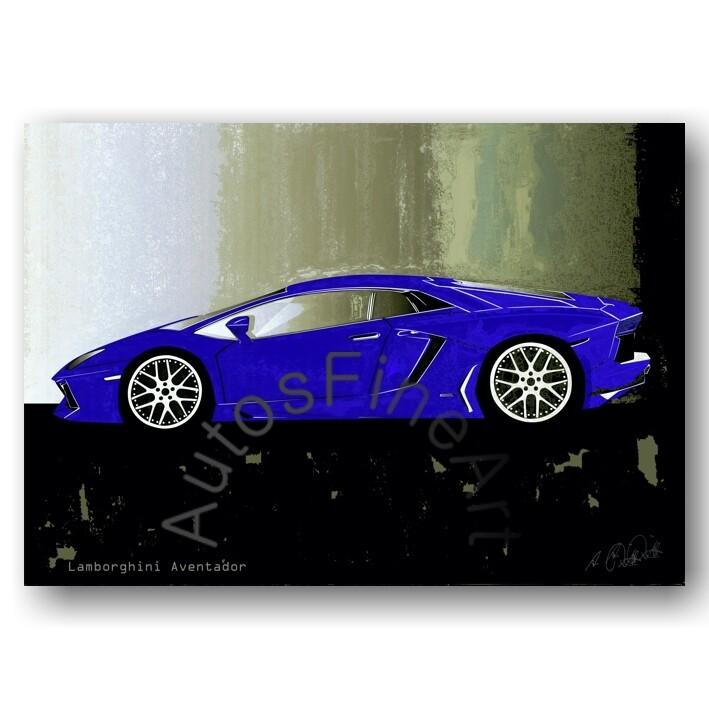 Lamborghini Aventador - HD Aluminiumbild No. 55spark