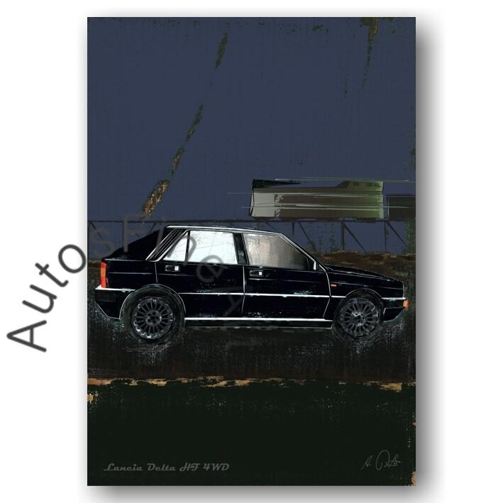 Lancia Delta HF 4WD - Poster No. 67special
