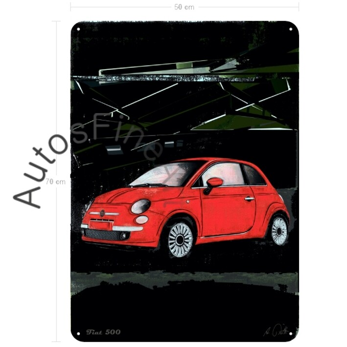 Fiat 500 - Blechbild No. 75special