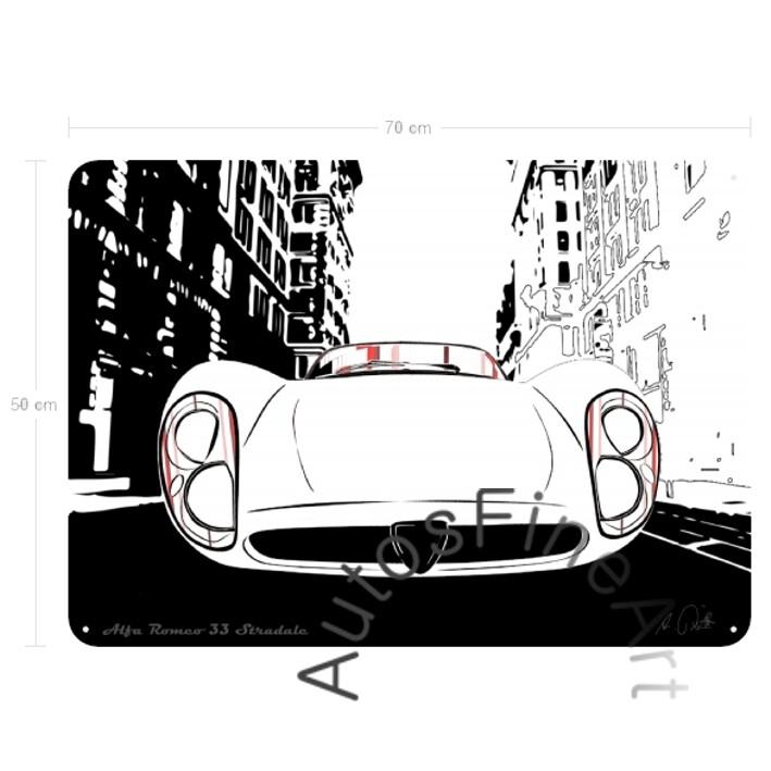 Alfa Romeo 33 Stradale - Blechbild No. 83special