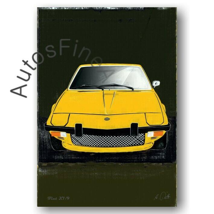 Fiat X1/9 - HD Aluminiumbild No. 94spark