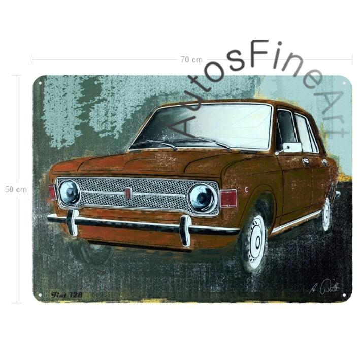 Fiat 128 - Blechbild No. 100spark