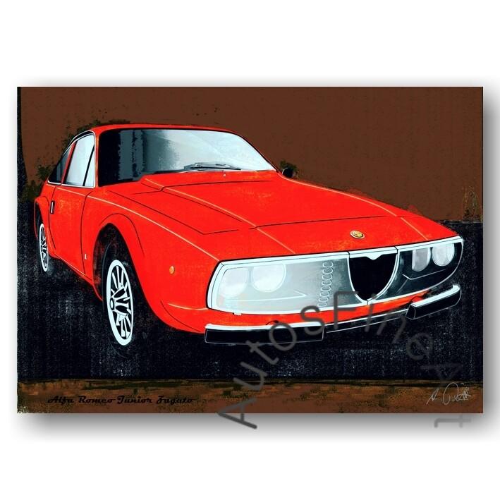 Alfa Romeo Junior Zagato - HD Aluminiumbild No. 103spark