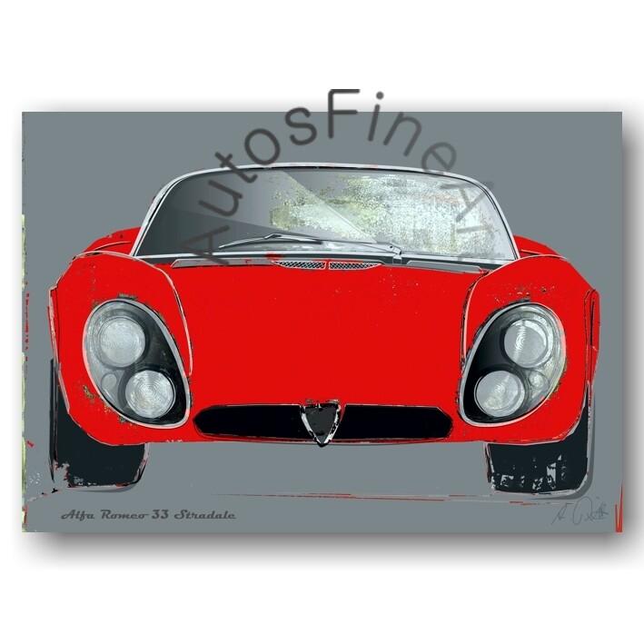 Alfa Romeo 33 Stradale - HD Aluminiumbild No. 104spark