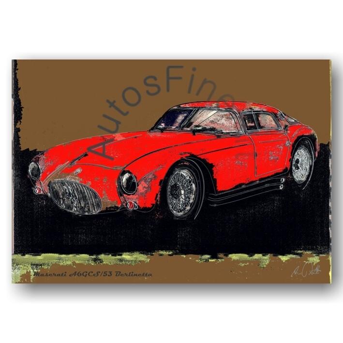 Maserati A6GCS/53 Berlinetta - Poster No. 105spark