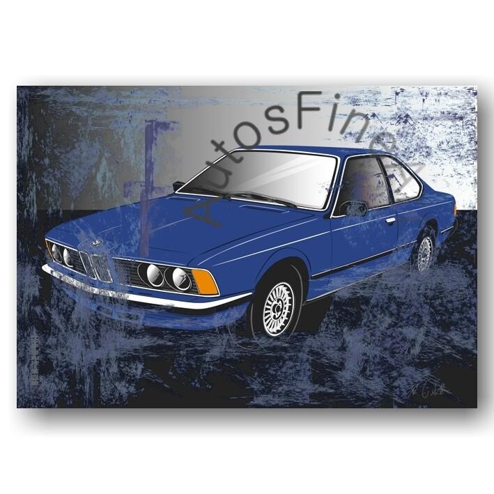 BMW 628 CSI - HD Aluminiumbild No. 112sketch