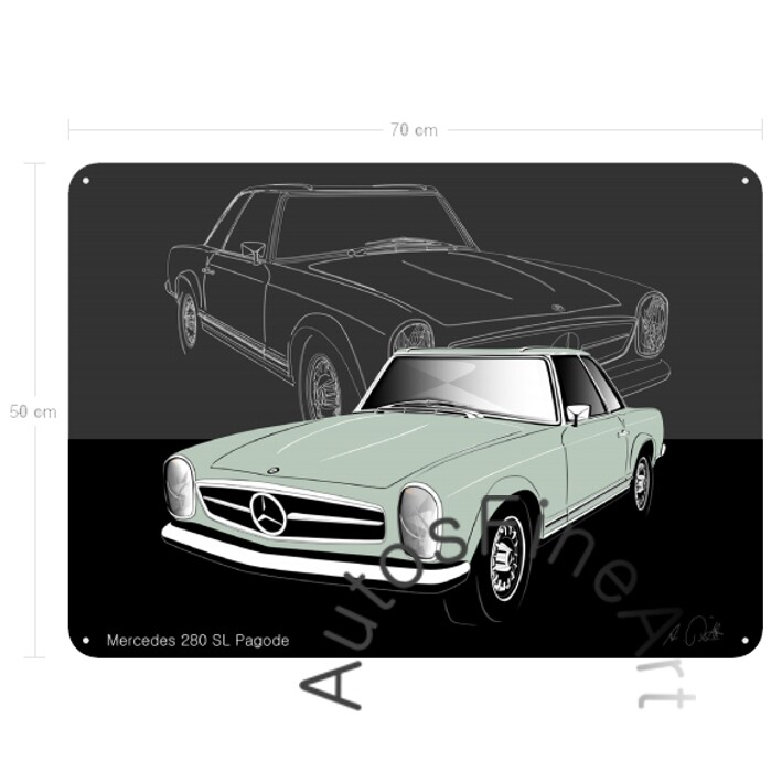 Mercedes 280 SL Pagode - Blechbild No. 113sketch