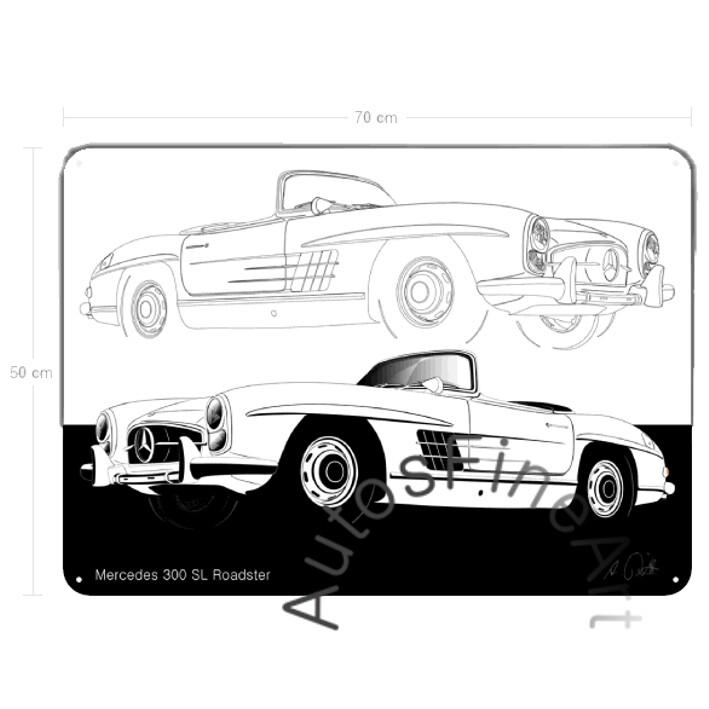 Mercedes 300 SL Roadster - Blechbild No. 114sketch