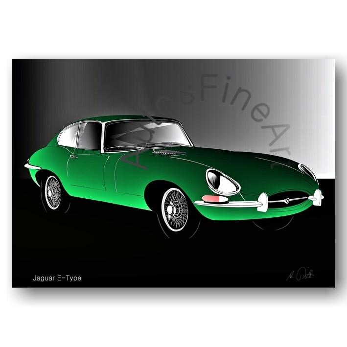 Jaguar E-Type - Poster No. 117glow
