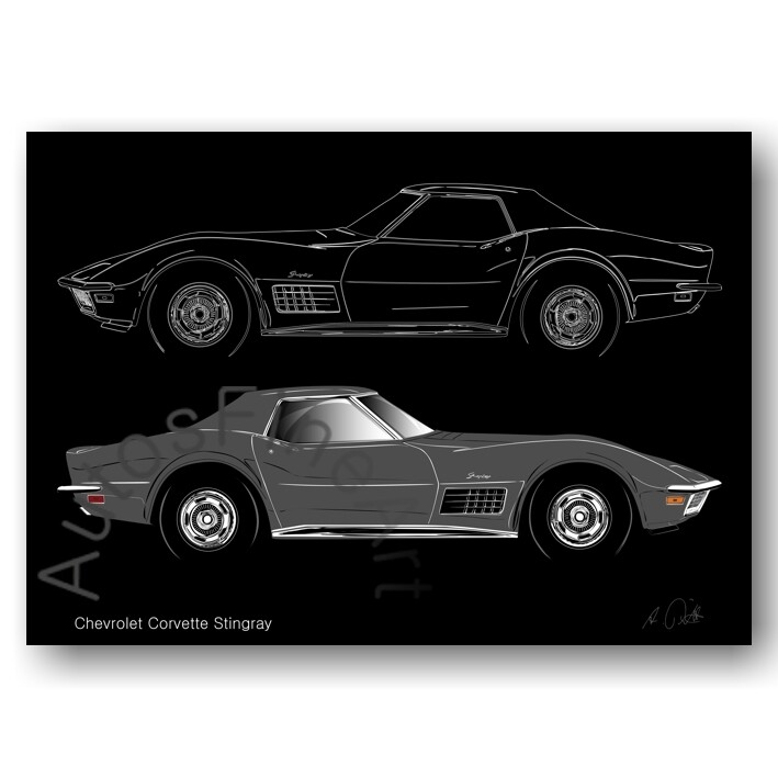 Chevrolet Corvette Stingray - Poster No. 120sketch