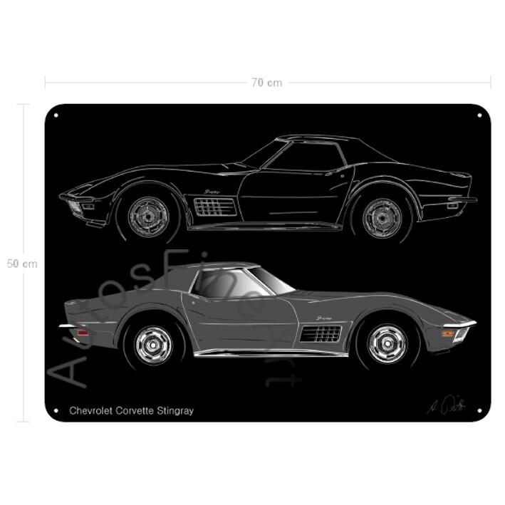 Chevrolet Corvette Stingray - Blechbild No. 120sketch