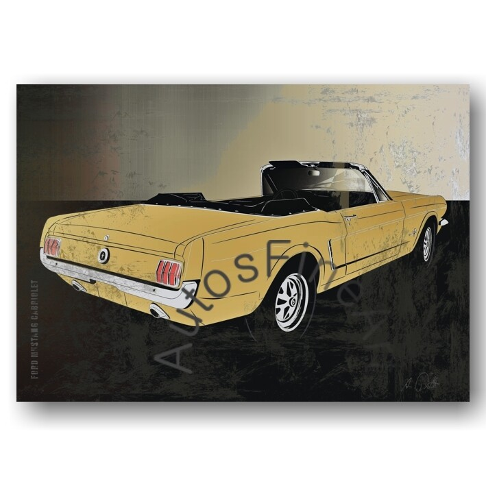 Ford Mustang Cabriolet - Poster No. 119spark