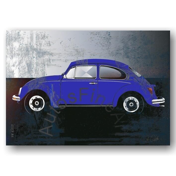 VW Käfer - HD Aluminiumbild No. 123spark