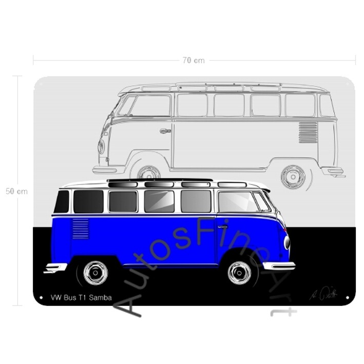 VW Bus T1 Samba - Blechbild No. 124sketch